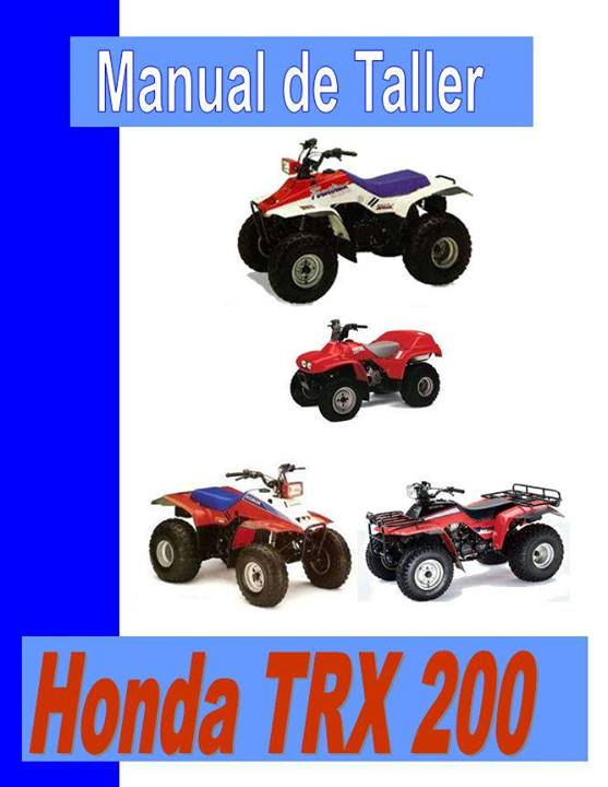Honda trx 200 manual taller