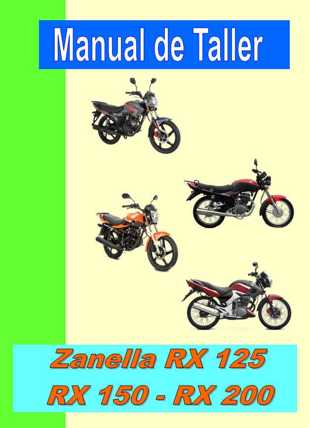 manual taller zanella rx 125 rx 150 rx 200