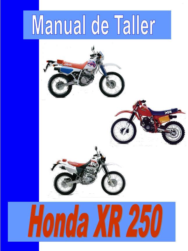 manual taller xr 250