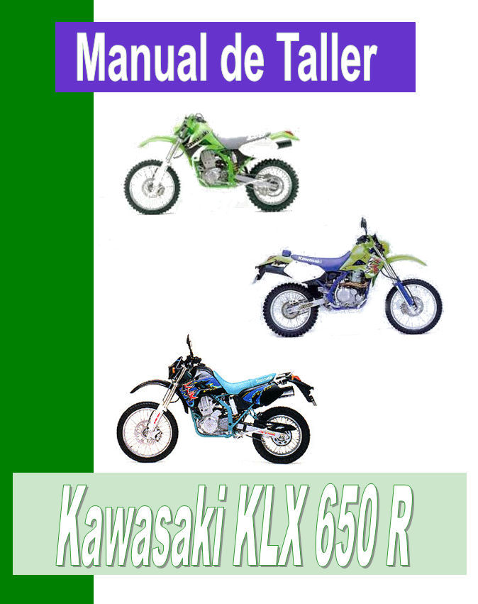 Kawasaki KLX 650 R manual taller - despiece en pd