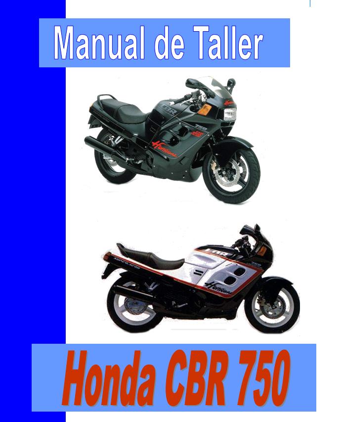 Honda CBR 750 Hurricane manual taller - despiece en pdf