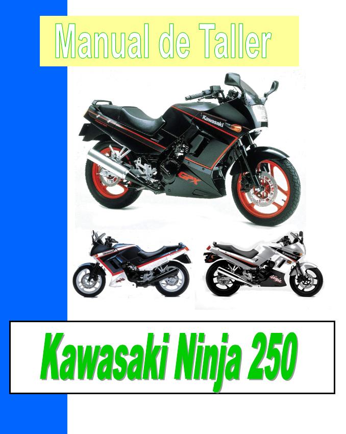 kawasaki GPX 250 - Kawasaki GPZ 250 Ninja manual taller - despiece en pdf
