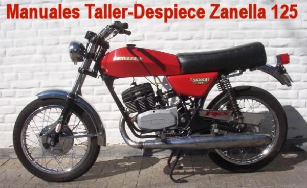Zanella Sapucai 125 2 tiempos manual taller - despiece en pdf