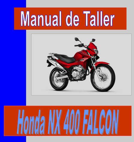 honda nx 400 falcon manual de mecanica