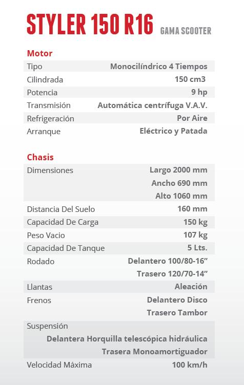 Styler_150_R16_especificaciones-tecnicas